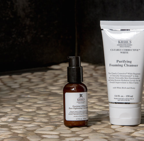 Kiehl's Purifying Foaming Cleanser & Precision Lifting & Pore-Tightening Concentrate